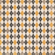 No Tricks, Just Treats - Brown Argyle Paper