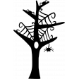 No Tricks, Just Treats - Web Tree Stamp