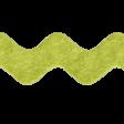 No Tricks, Just Treats - Green Felt Ribbon