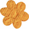 No Tricks, Just Treats - Orange Vintage Writing Flower