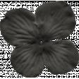 No Tricks, Just Treats - Black Solid Flower #01