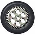 Speed Zone - Metal Rimmed Tire 02