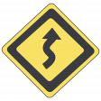 Speed Zone Elements Kit - Curves Ahead Sign