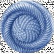 My Baptism - Blue Twirl Button