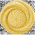 My Baptism - Yellow Twirl Button
