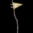 Thankful - Fun Stick Flag
