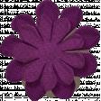 Thankful - Purple Burlap Flower