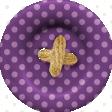 Thankful - Purple Polkadot Button