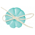 Simple Pleasures - Bluegreen Button With Bow