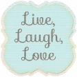 Simple Pleasures - Bluegreen Journal Tag