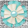 Simple Pleasures - Bluegreen & White Flower