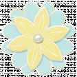 Simple Pleasures - Bluegreen & Yellow Flower