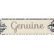 """Simple Pleasures - """"Genuine"""" Word Art"""
