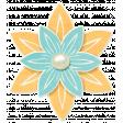 Simple Pleasures - Blue and Orange Flower
