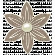 Simple Pleasures - Slate Brown Flower