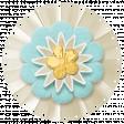 Simple Pleasures - White Blue Flower