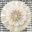 Simple Pleasures - White Orange Flower