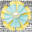 Simple Pleasures - Yellow Bluegreen Flower