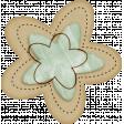 Sweet Valentine Elements  - Blue & Tan Flower