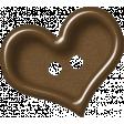 Sweet Valentine Elements  - Brown Heart Button