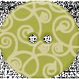 Sweet Valentine Elements  - Green Swirly Button