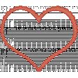 Sweet Valentine Elements  - Stitched Heart Frame