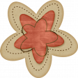 Sweet Valentine Elements  - Tan & Red Flower