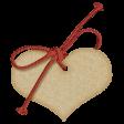 Sweet Valentine Elements  - Tan Tag
