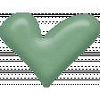 Sweet Valentine Elements  - Teal Heart Brad