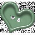 Sweet Valentine Elements  - Teal Heart Button