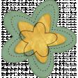 Sweet Valentine Elements  - Teal Yellow Flower