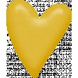 Sweet Valentine Elements Kit - Yellow Heart Brad