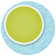 Lil Monster - Blue & Green Circle Sticker