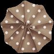 Lil Monster - Brown Polkadot Accordian Paper Flower