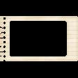 Lil Monster - Red Lines Notebook Paper Frame
