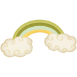 Oh Lucky Day - Rainbow & Clouds