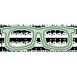Hello - Green Paper Glasses