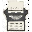 Hello - Paper Typewriter