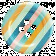 Hello - Striped Button