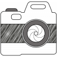 Camera Doodles Set - Camera #04 Illustration