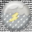 Rain, Rain - Clouds and Lightening Flair