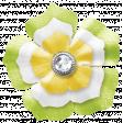 Rain, Rain - Green Yellow White Flower
