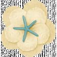 At The Beach - Cream Flower