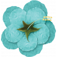 At The Beach - Flower Teal