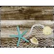 At The Beach - Fishing Net Journal Card