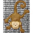 Oh Baby, Baby - Felt Hanging Monkey