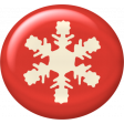 Christmas In July - CB - Snowflake Flair - Red
