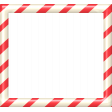 Christmas In July - CB - Peppermint Frame - Red & White