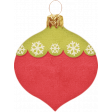 Christmas In July - CB - Red and Green Teardrop Ornament