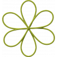 School Fun - Green String Flower